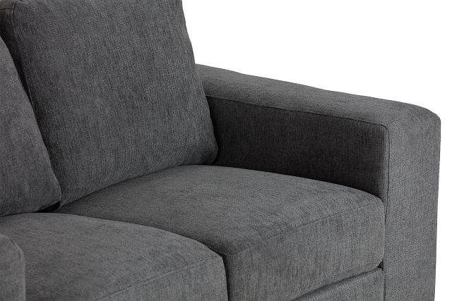 Estelle Dark Gray Fabric Loveseat