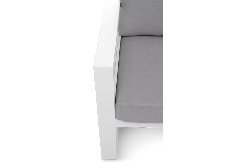 Lisbon GRAY ALUMINUM Small Right Sectional