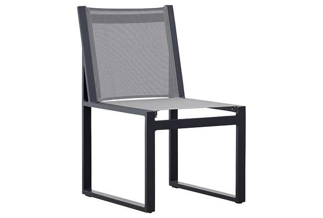 Linear Dark Gray Aluminum Sling Chair