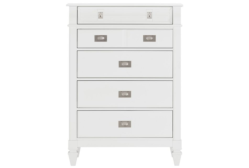 Marina White  Drawer Chest