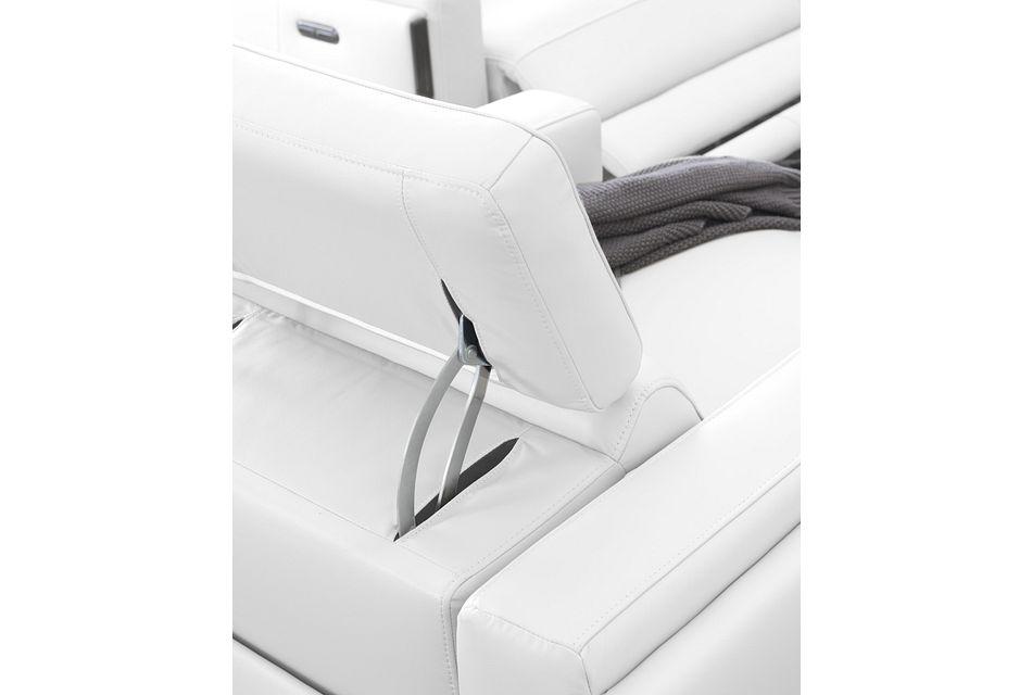 Atlas White Lthr/vinyl Power Recliner