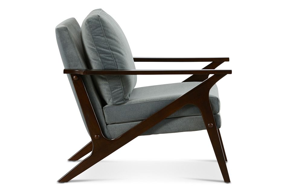 Grayson Gray Wood Accent Chair