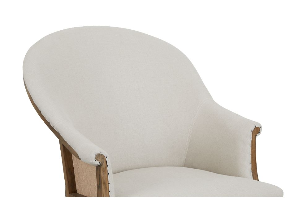 Jane Beige Upholstered Arm Chair
