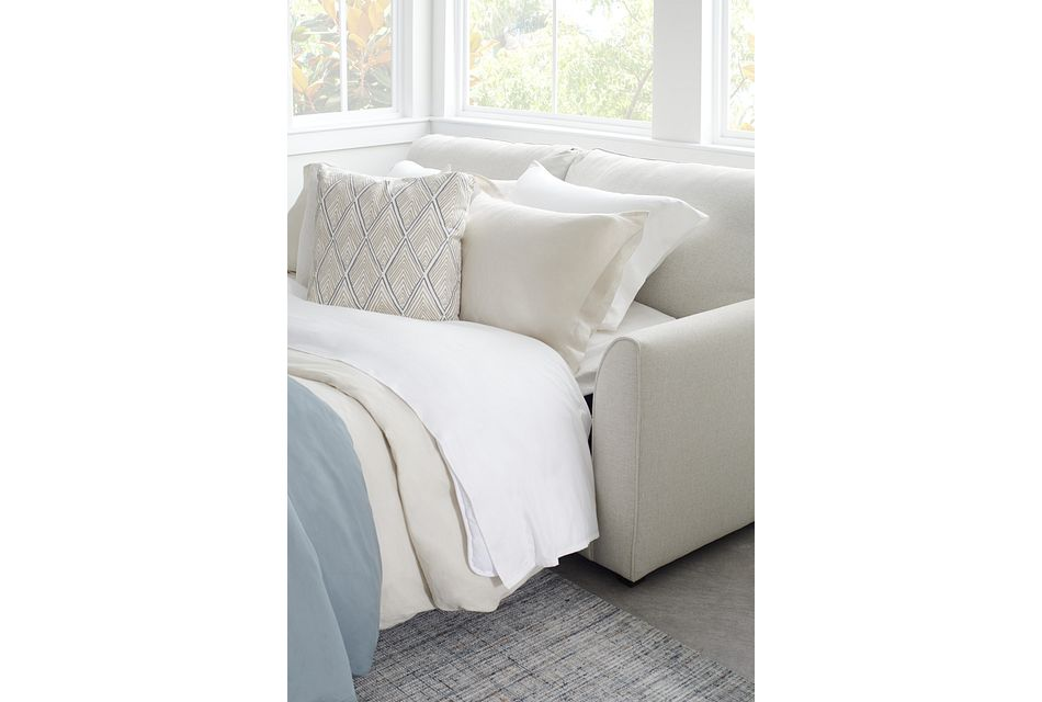 Asheville Light Taupe Fabric Innerspring Sleeper
