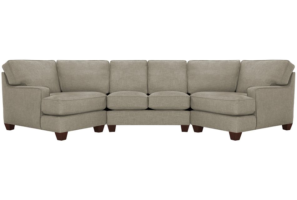 York PEWTER FABRIC Dual Cuddler Sectional