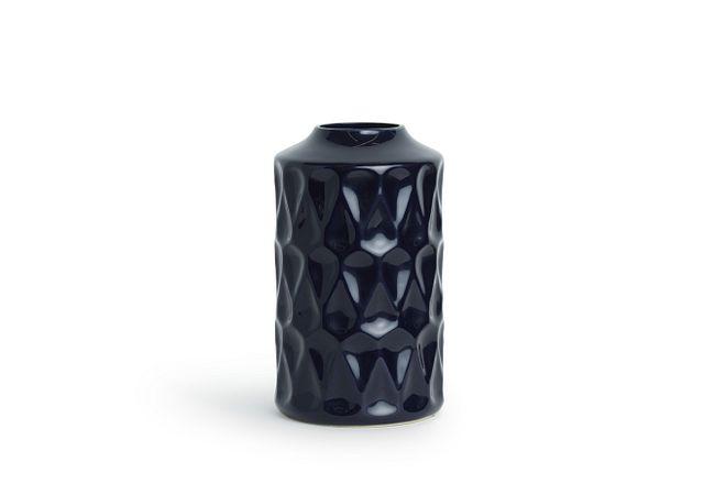 Trey Navy Vase