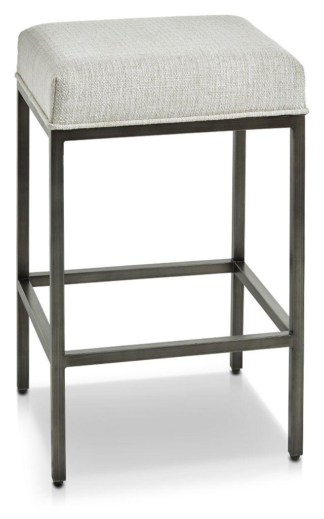 Zephyr Gray High Table & 3 Barstools
