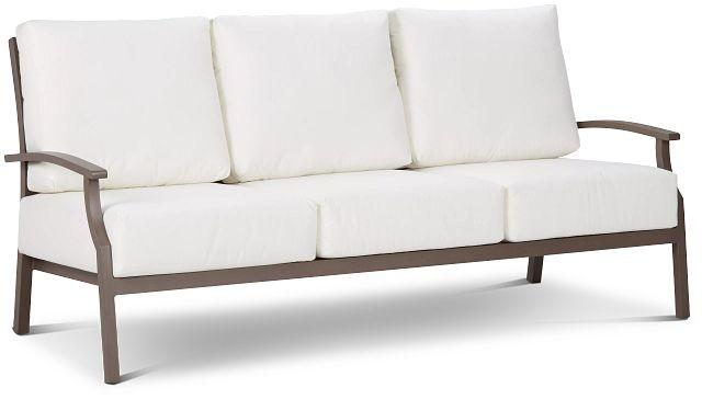 Raleigh White Aluminum Sofa (1)