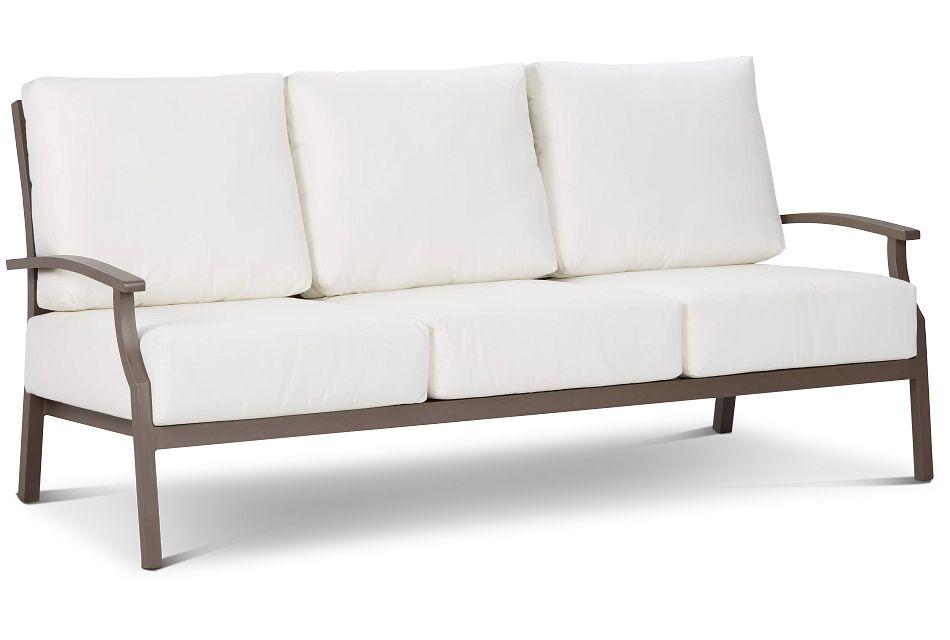 Raleigh White Aluminum Sofa
