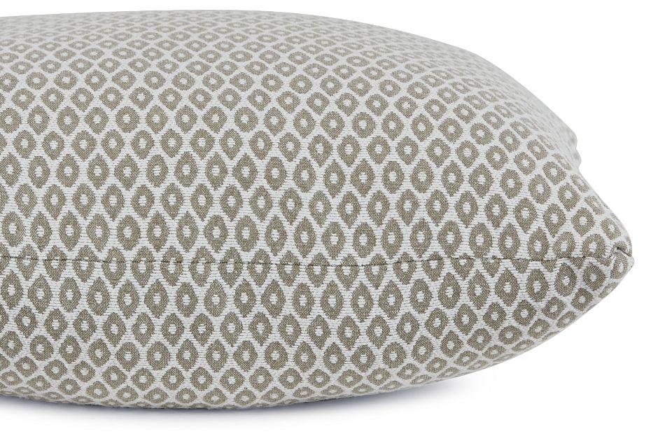 """Nimbus Beige Fabric 18"""" Accent Pillow,  (2)"""