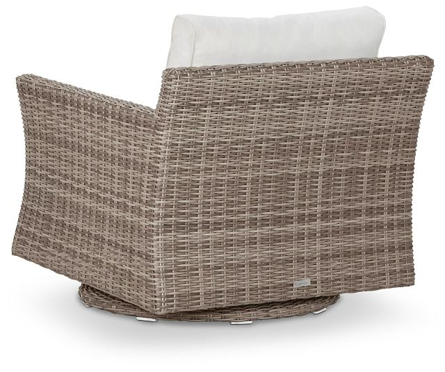 Raleigh White Swivel Chair (3)