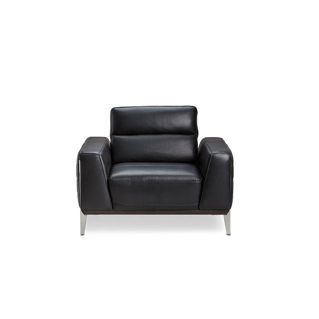 Gatlin Black Lthr/vinyl Power Push Back Chair