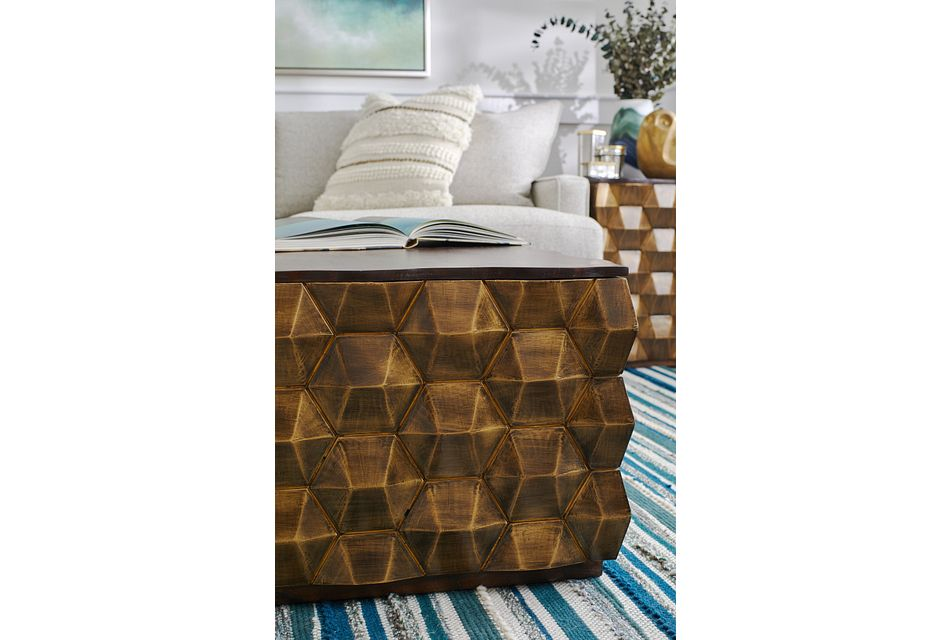 Versie Gold Square Coffee Table