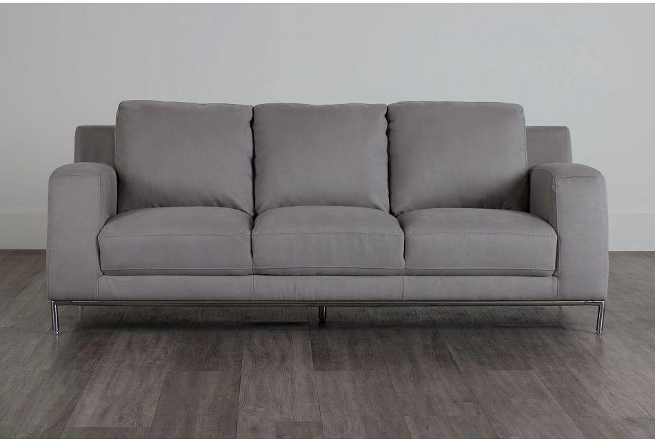 Wynn Light Gray Micro Sofa,  (3)