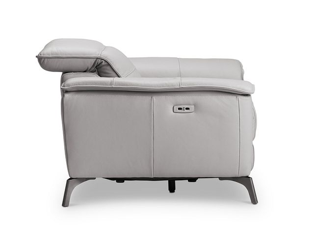 Pearson Gray Leather Power Recliner With Power Headrest (2)