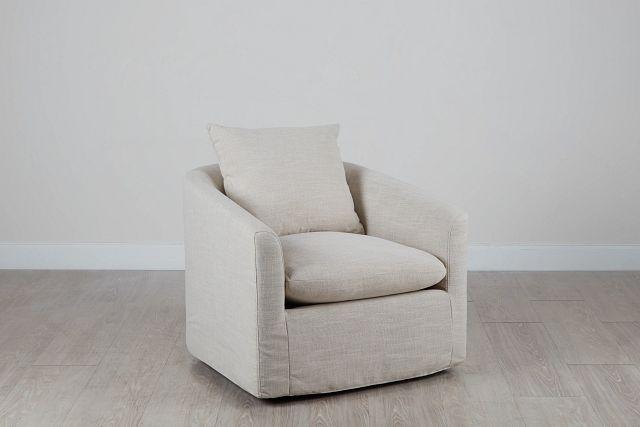 Willow Light Beige Fabric Swivel Chair (0)
