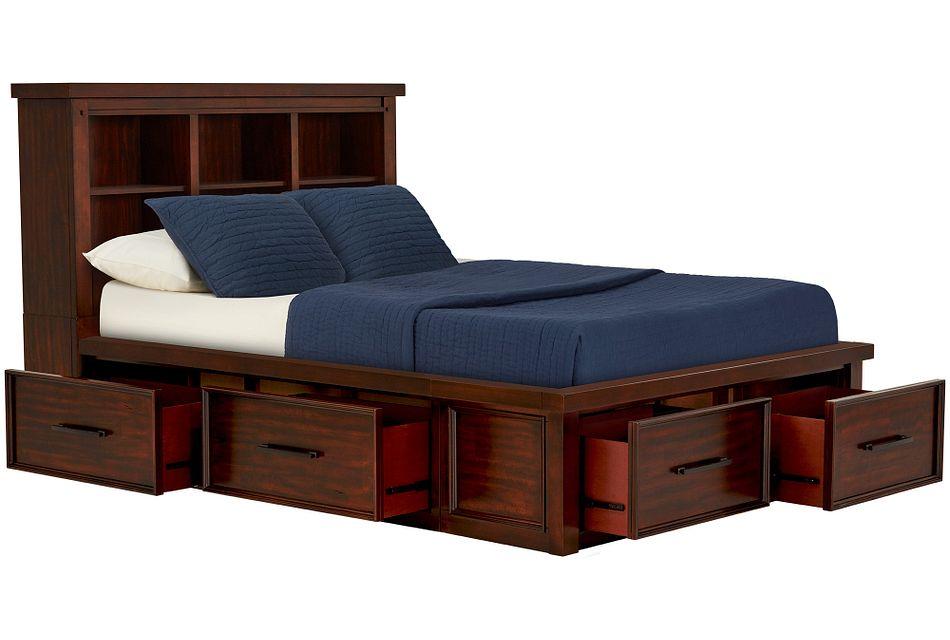 Napa Dark Tone 4-drawer Bookcase Storage Bed