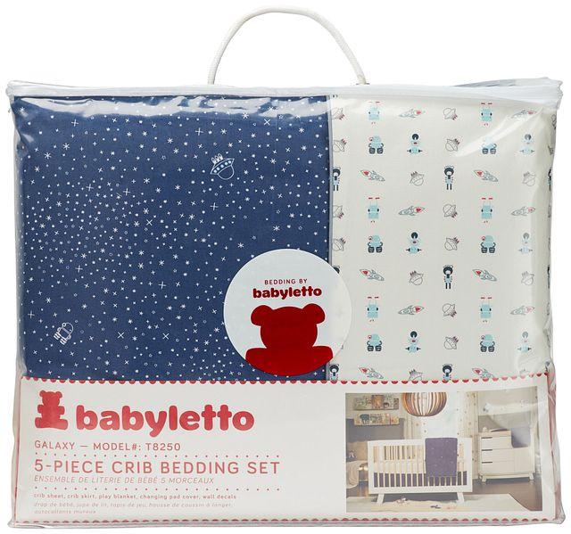 Galaxy Dark Blue 5 Piece Crib Bedding Set (0)