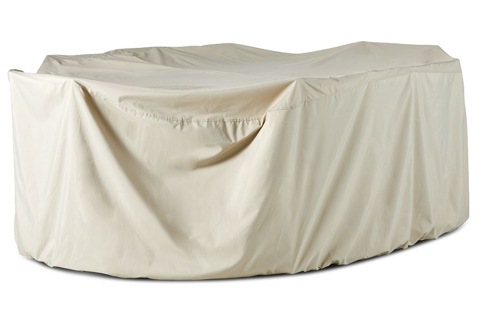 """Khaki 86"""" Table & 4 Chairs Outdoor Cover"""