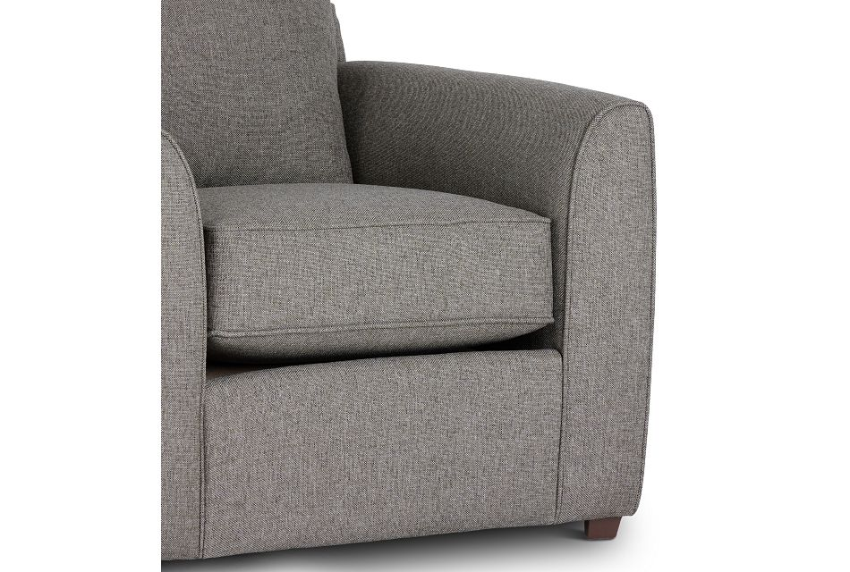 Asheville Brown Fabric Chair