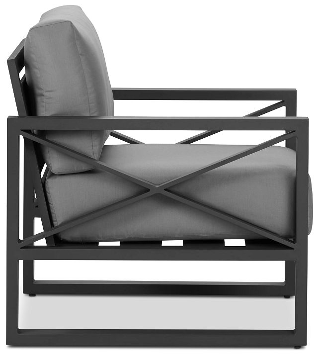 Linear Dark Gray Aluminum Chair (1)