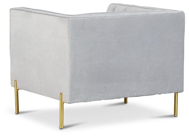 Bella Gray Velvet Chair