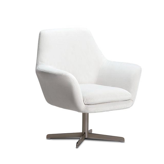 Xander Pewter Velvet Swivel Accent Chair (1)