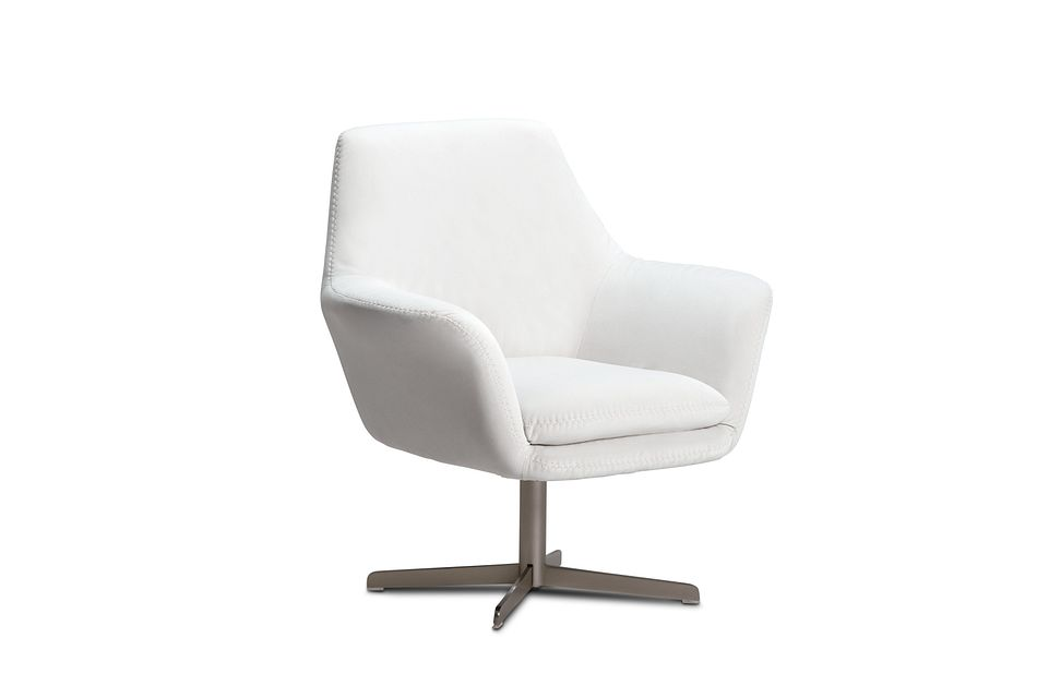 Xander Pewter Velvet Swivel Accent Chair