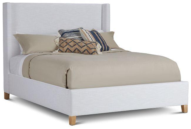 Nantucket White Uph Platform Bed