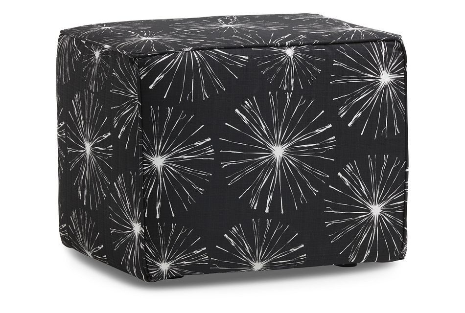 Sparks Black Fabric Indoor/outdoor Accent Ottoman