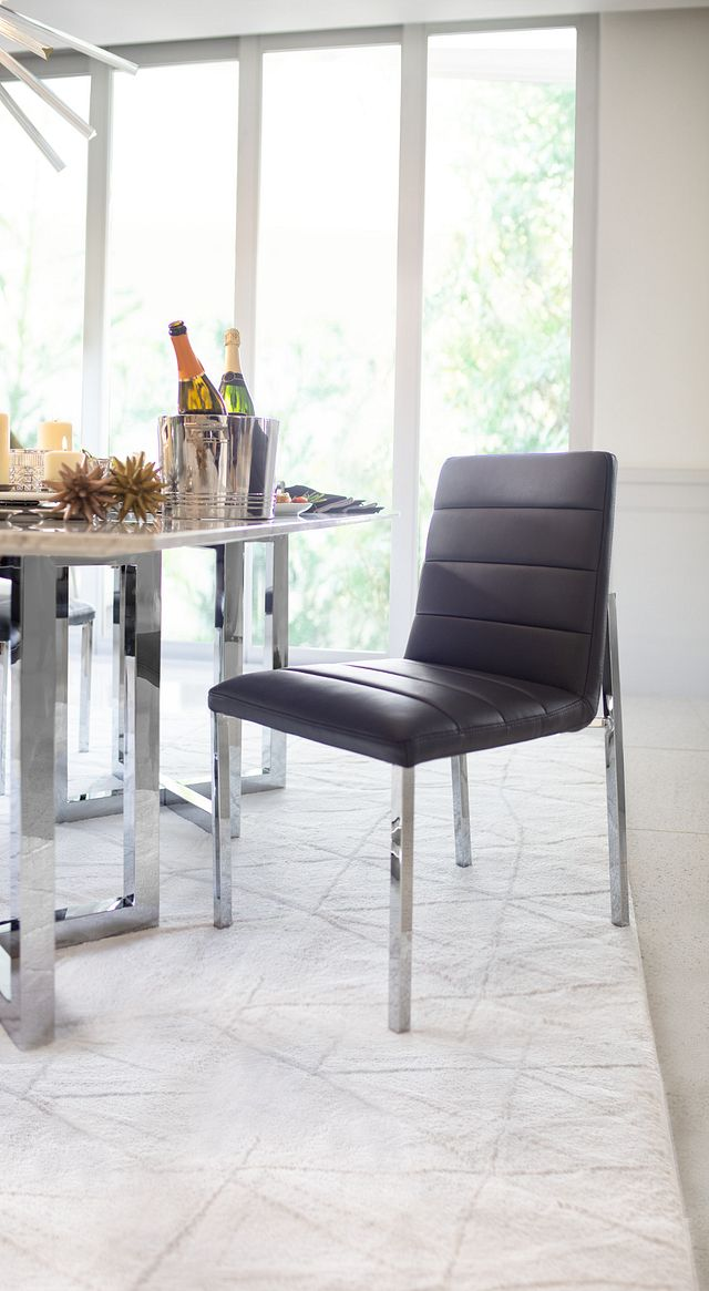 Amalfi Gray Uph Side Chair (2)