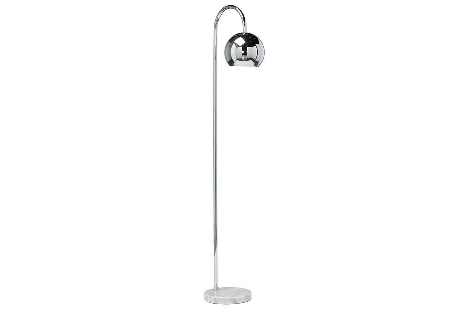 Audra Silver Arc Floor Lamp