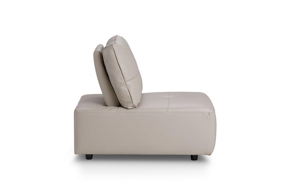 Trice Taupe Lthr/vinyl Armless Chair,  (0)