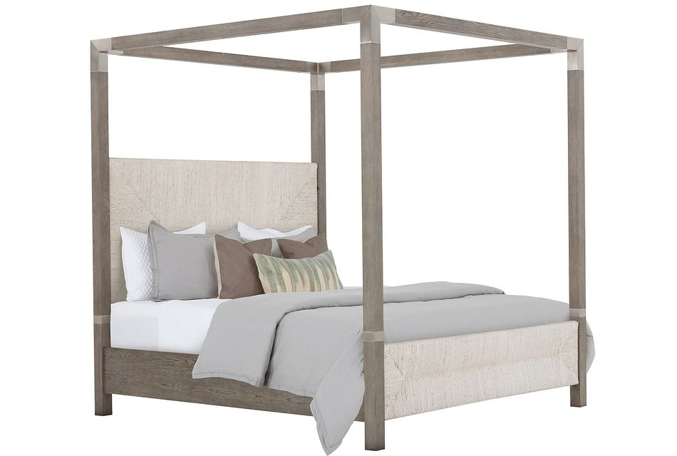 Palma Light Tone Woven Canopy Bed