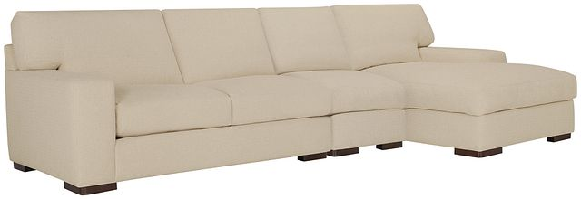 Veronica Khaki Down Small Right Chaise Sectional (0)