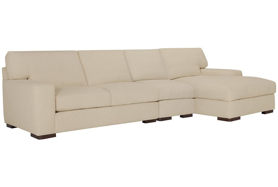 Veronica Khaki Down Small Right Chaise Sectional