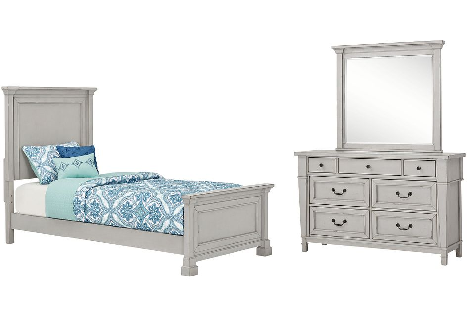 Stoney Gray  Panel Bedroom, Twin (1)