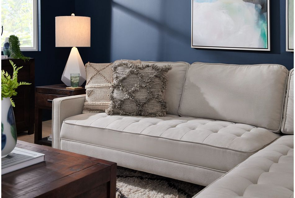 Eli Taupe Micro Right Chaise Sectional,  (1)
