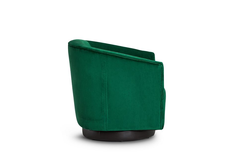 Charlotte Dark Green Velvet Swivel Accent Chair