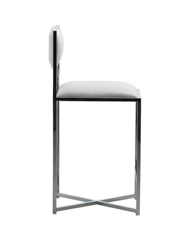 "Amalfi White Stnl Steel 24"" Barstool (1)"