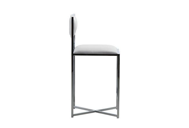 "Amalfi White Stnl Steel 24"" Barstool"