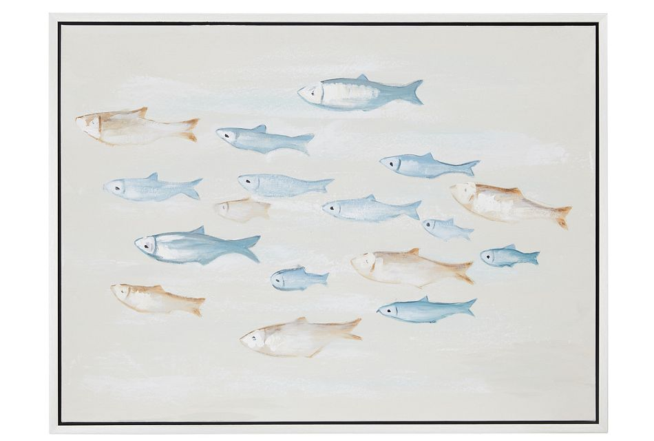 Minnow Multicolored Framed Canvas Wall Art