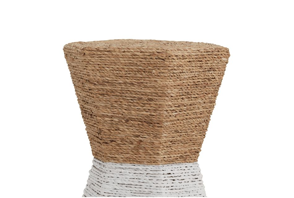 Seaside White Woven Accent Table,  (3)