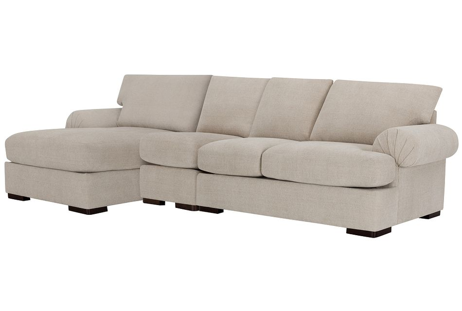 Belair Light Taupe Fabric Small Left Chaise Sectional