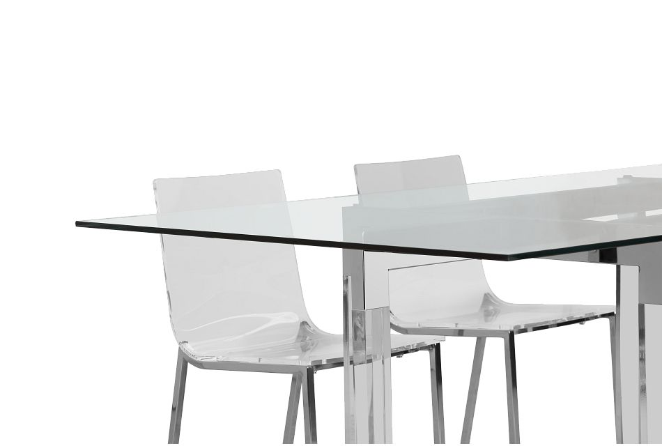 Denmark Glass Rect Table & 4 Chairs,  (3)