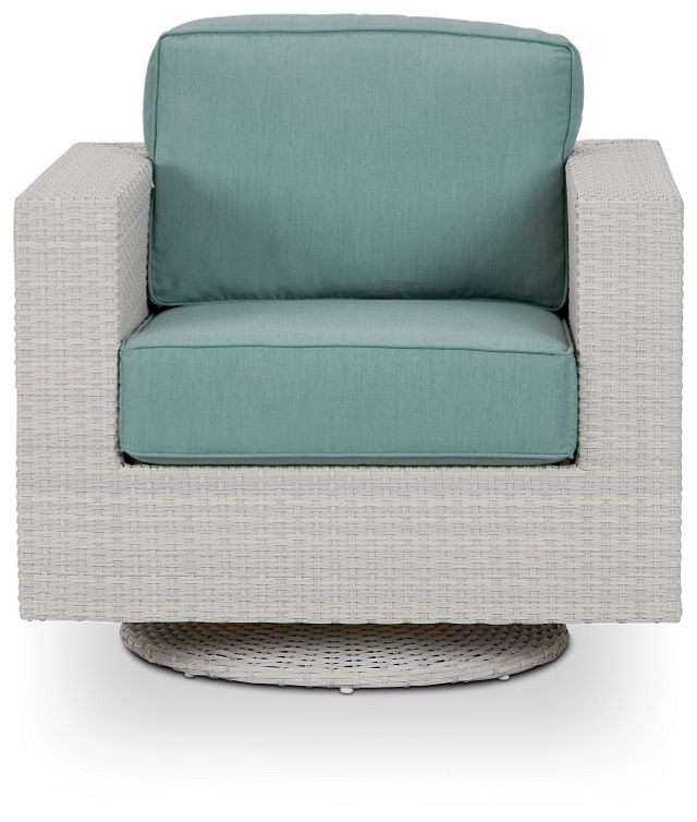 Biscayne Teal Swivel Chair (2)