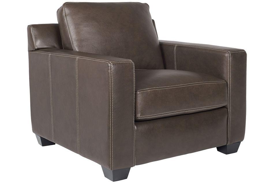 Carson Dark Brown Leather Chair