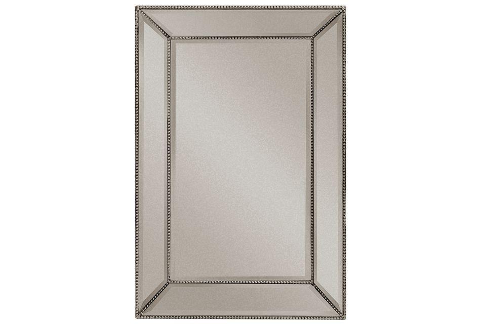 Adiva Silver Small Mirror