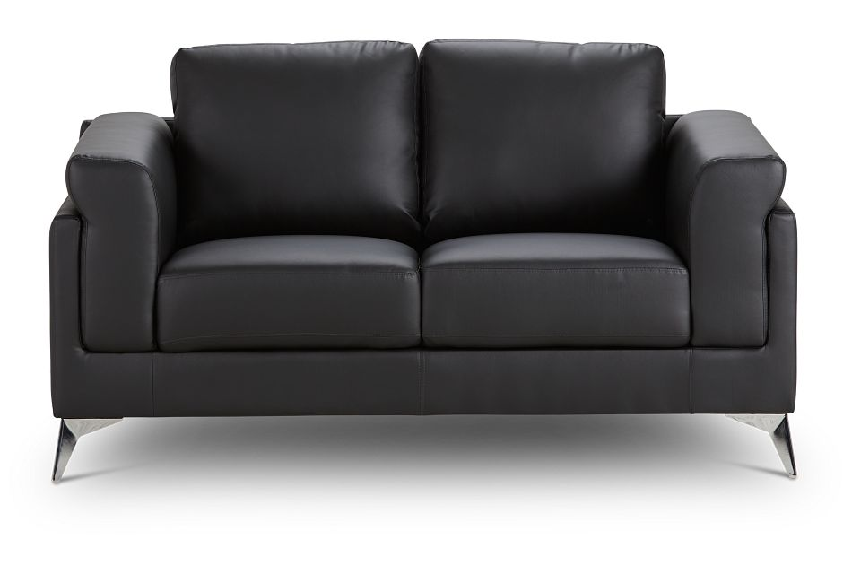 Gianna Black Micro Loveseat, %%bed_Size%% (1)