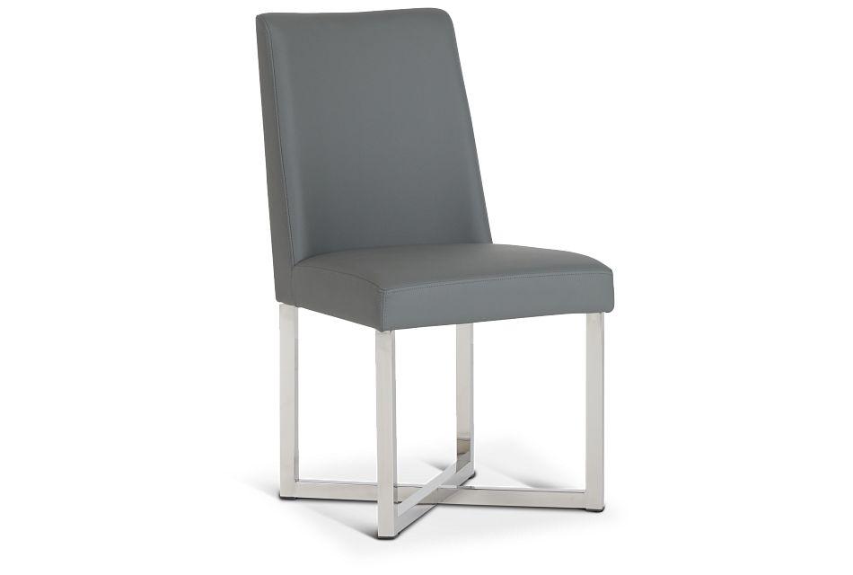 Howard Gray Upholstered Side Chair,  (1)